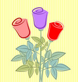 Retro růže — Stock vektor