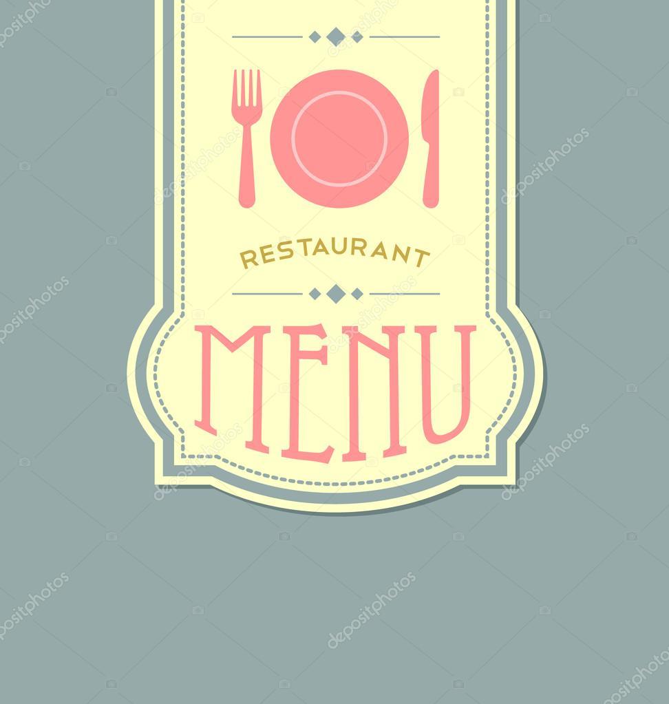 Copertina del men ristorante vettoriali stock for Piani di costruzione di stand del ristorante
