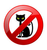 No cats allowed permission sign — Stock Vector
