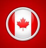 Canadian circular badge — Stock Vector