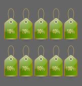 Bargain price tags — Stock Vector