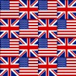 American and British seamless pattern — Stock Vector #48525061