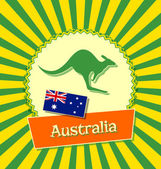Australian badge — Stock Vector