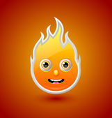 Fire character — Stock Vector