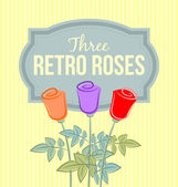 Retro roses — Stock Vector