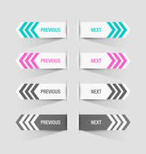 Previous and next buttons — Vector de stock