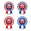 British rosettes — Stock Vector