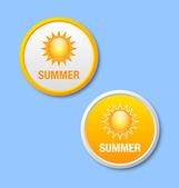 夏天的图标 — 图库矢量图片
