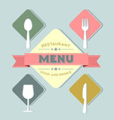 Restaurant menu cover — Stock Vector