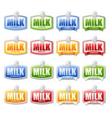 Milk labels — Vector de stock