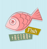 Retro fish — Stock Vector