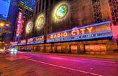 Radio city music hall y luces — Foto de Stock