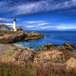 Stock Photo: Portland Head Light & Sunset