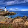Portland Head Light & Sunset — Stock Photo