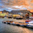 V&A Waterfront & Sunset — Stock Photo