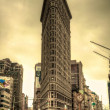 Flatiron Building & Yellow Sky — Stockfoto