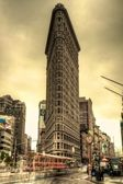 Flatiron Building & Yellow Sky — Stock Photo