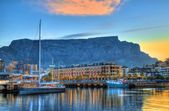 V&A Waterfront & Boats — Stock Photo
