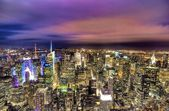 NYC & Colorful Sky — Stock Photo