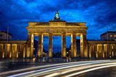 Brandenburg Gate & Blue Hour — Stock Photo