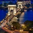 Chain Bridge & Blue Hour — Stock Photo