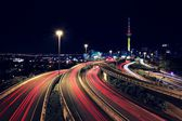 Auckland & Trail Lights — Stock Photo