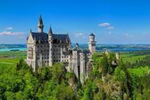 Neuschwanstein Castle & Blue Sky — Stock Photo