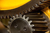 Two powerful gear wheels — Stock Photo