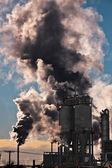 工业冬季风景 — 图库照片