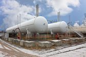 Natural gas tanks — Stock Photo