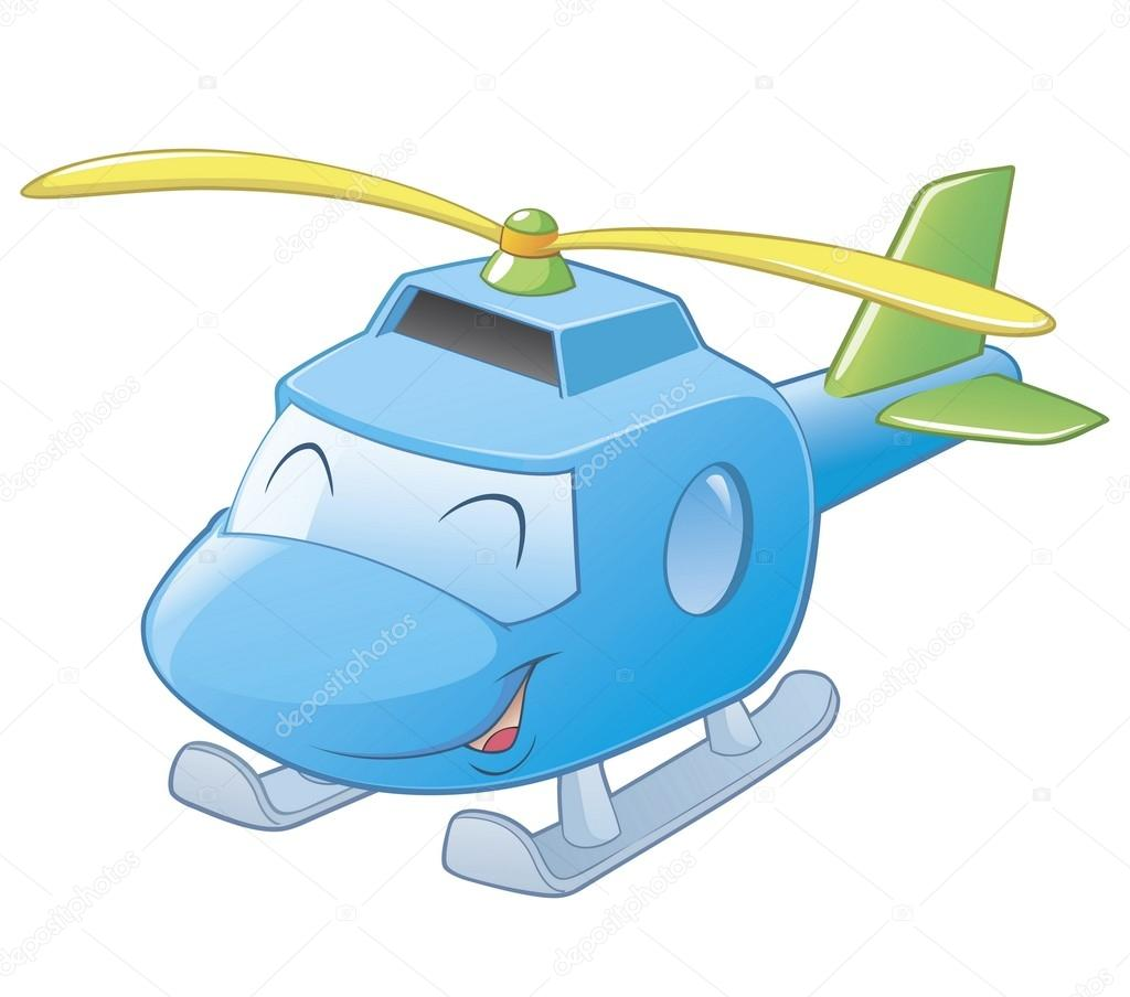 of a cartoon helicopter.
