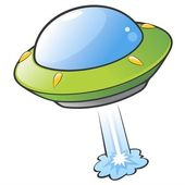 Cartoon Flying Saucer — Stock Vector