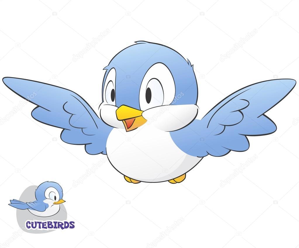 Cute Cartoon Bird — Stock Vector © mumut #22003281