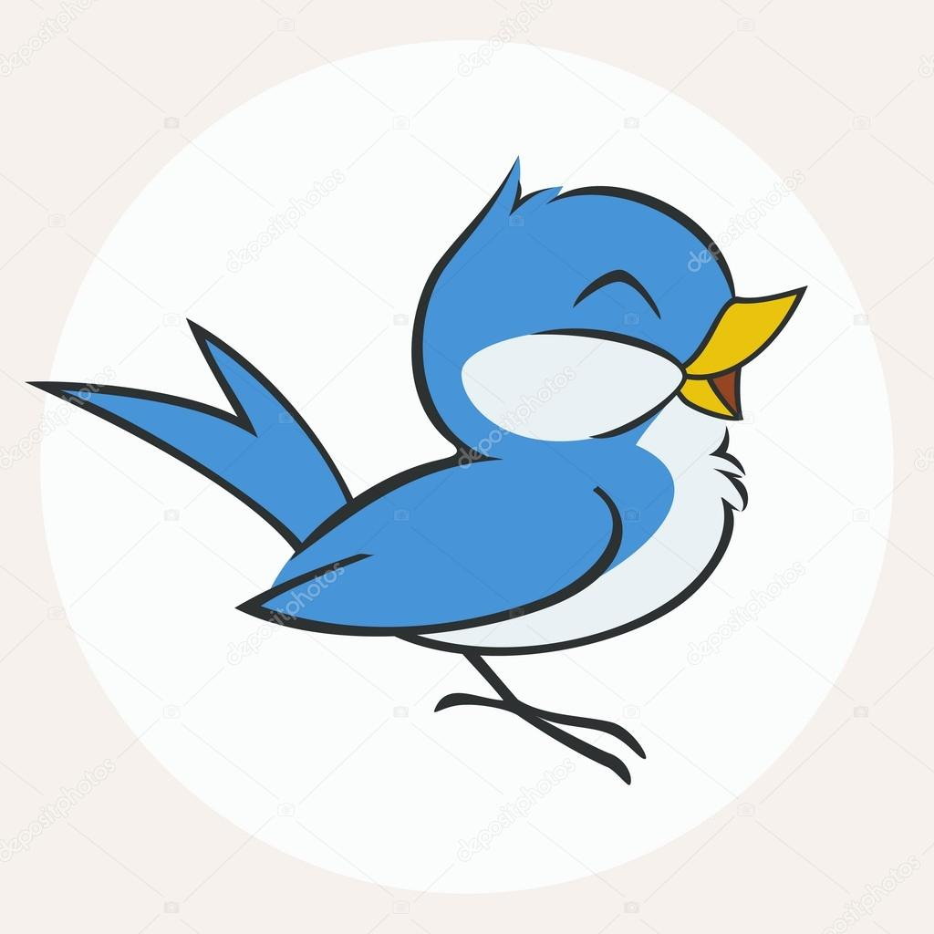 Uccellino azzurro — vettoriali stock mumut