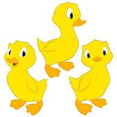 Cartoon Baby Ducks — Stock Vector