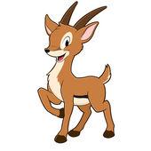 Cartoon Gazelle — Stock Vector