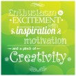 Vector de stock : Quote, inspirational poster, typographical design, vector illustration