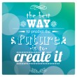 Cтоковый вектор: Quote, inspirational poster, typographical design, vector illustration