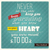 Quote, inspirational poster, typographical design, vector illustration — Stock Vector