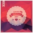Valentine's day card, label design, pattern background, vector illustration — Stock Vector