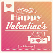 Happy Valentine s day typographical poster, vector illustration — Stock Vector