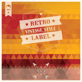 Vintage retro hipster label, typography, geometric design elements, vector illustration — Stock Vector