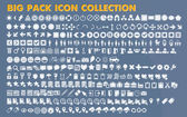 Collection of universal icons and symbols for web and mobile, vector — Stock Vector