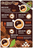 Collectie van koffie infographics elementen, vector — Stockvector