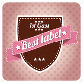 Set of vintage retro labels, stamps, ribbons, marks and calligraphic design elements, vector — Stock Vector