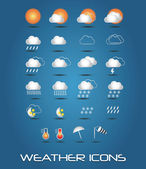 Collection of mobile weather icons, vector — Stock Vector