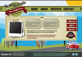 Website template elements, vintage style — Stock Vector