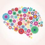 Abstract human brain, creative, vector — Stock Vector