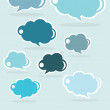 Speech cloud collection, vector — Stock Vector #40183527
