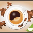 Collection of coffee inspired illustrations, vector — Stock Vector